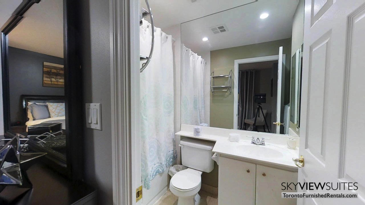 short term rentals toronto qwest bathroom and bedroom