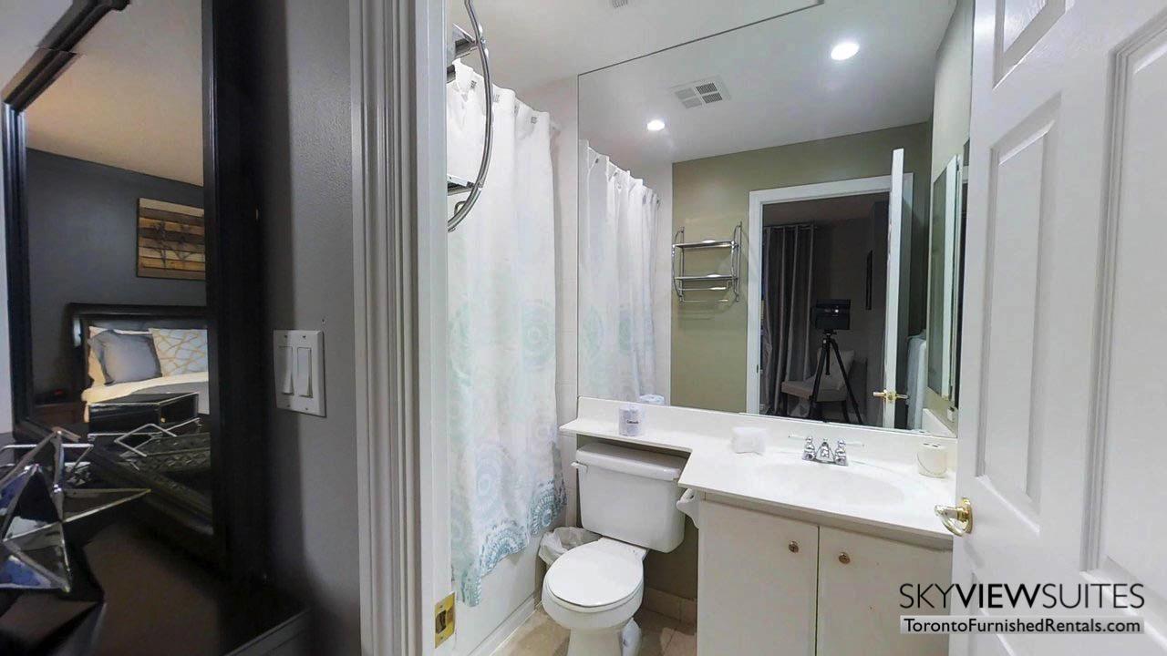short term rentals toronto qwest bathroom and bedroom