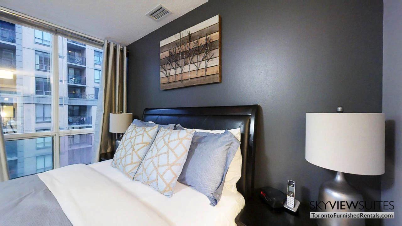 short term rentals toronto qwest bedroom with window
