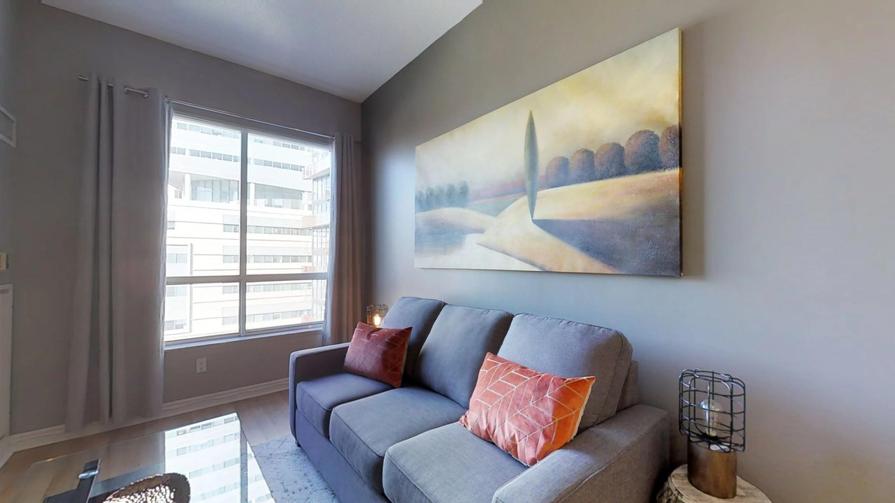 furnished apartments toronto QWEST couch and living room