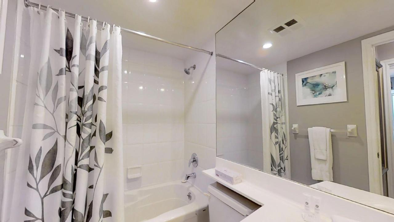 shower in furnished apartment near queen and university in Toronto