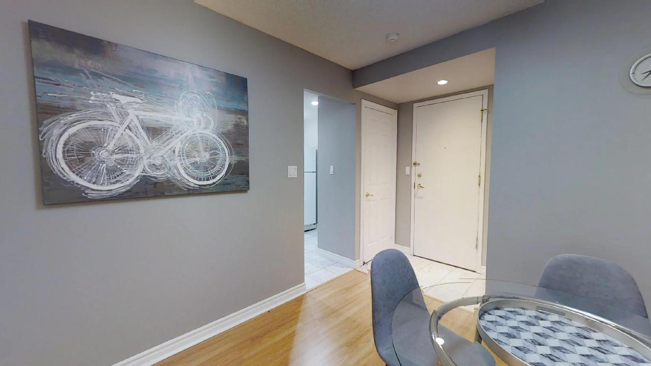 dining table near queen and university in a toronto furnished rental