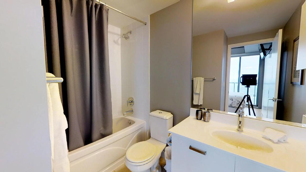 fully furnished bathroom in a toronto condo