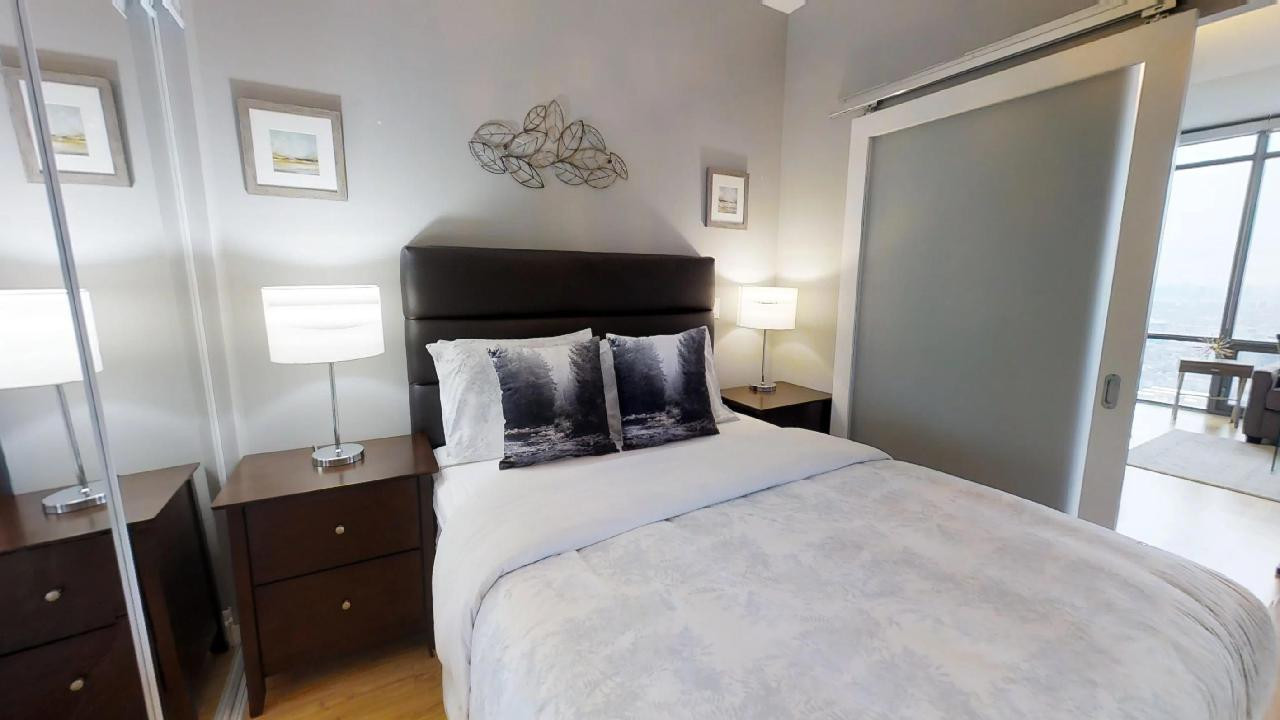 second bedroom in a toronto fully furnished apartment