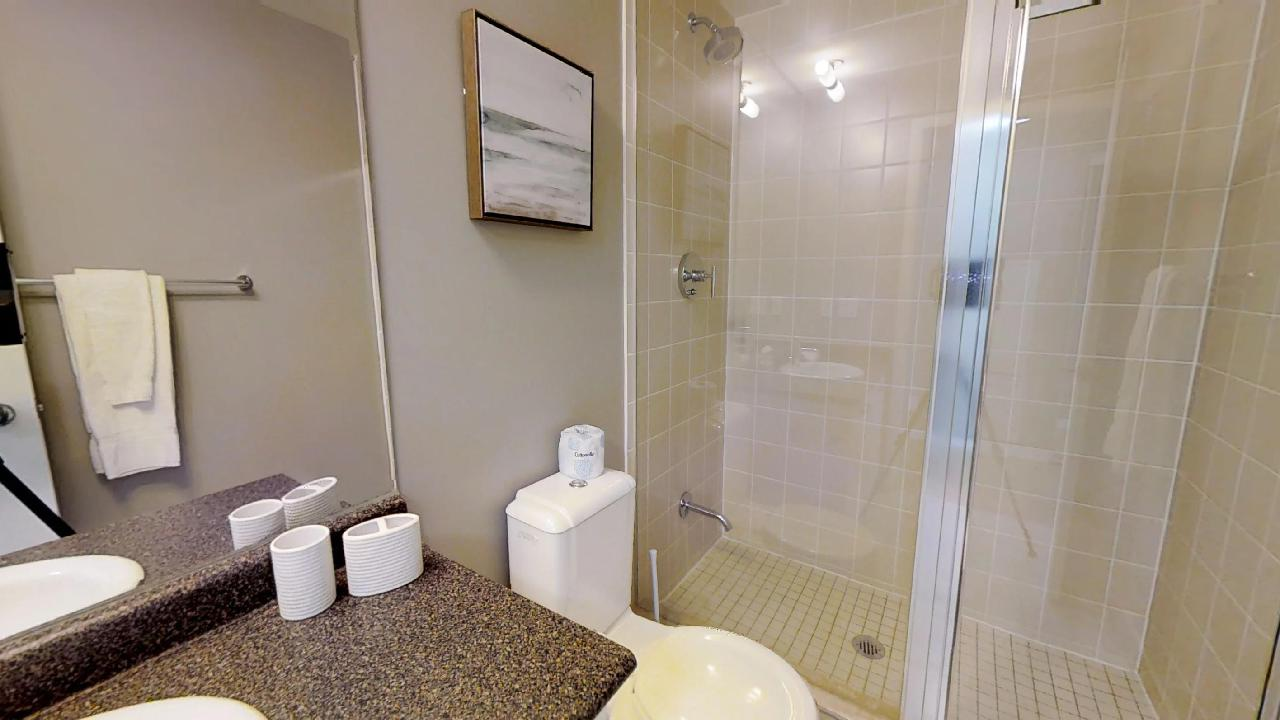 bathroom in a fully furnished corporate stay