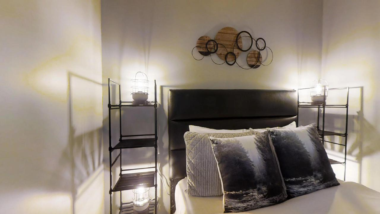 fully furnished bedroom in a Burano condo