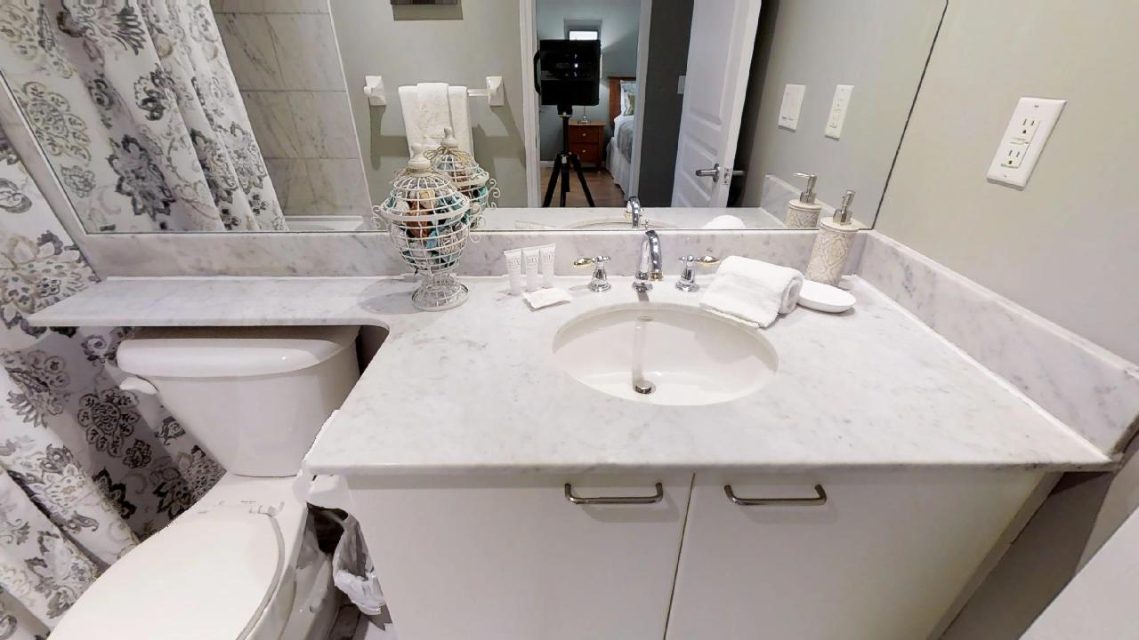 bathroom in university plaza fully furnished apartment