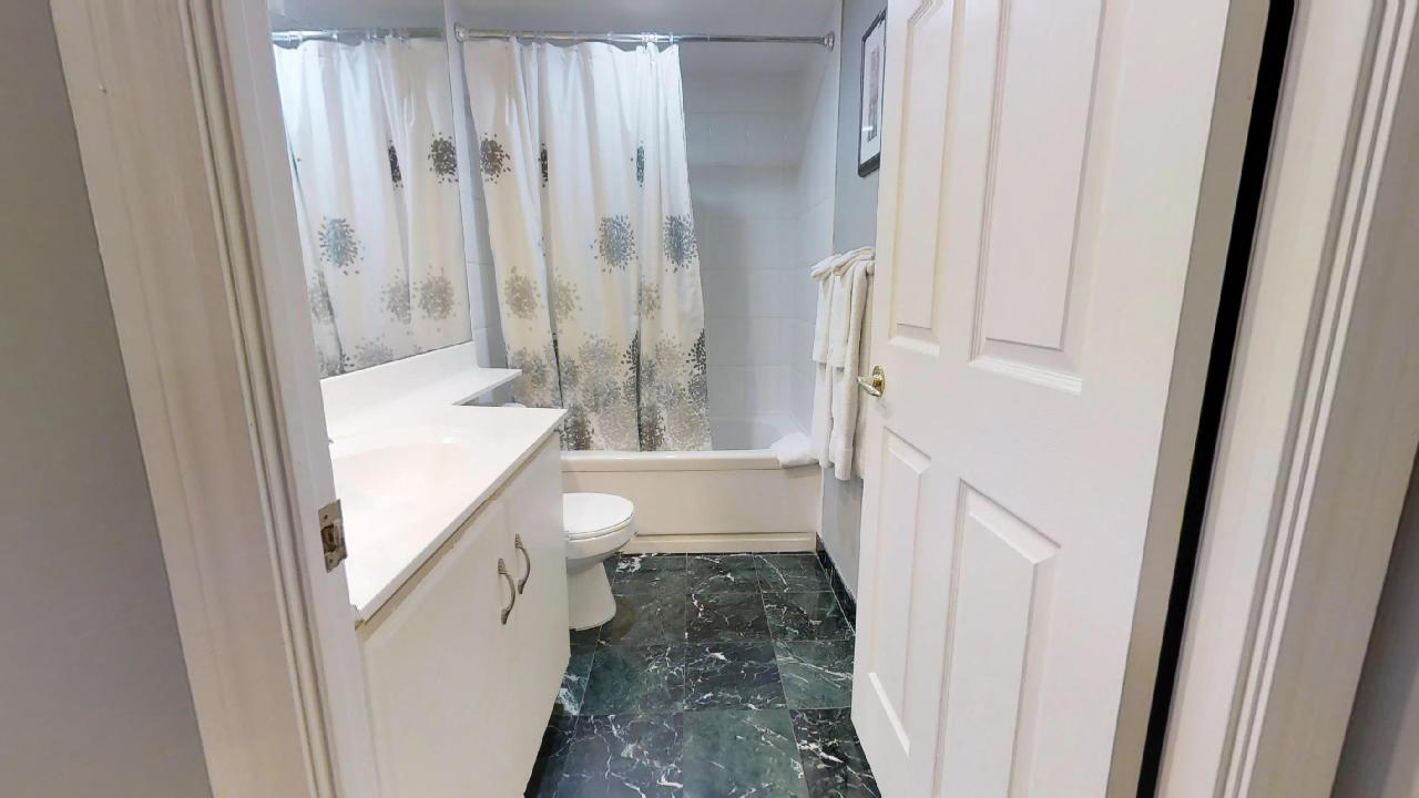 shower in toronto furnished apartment at simcoe and queen