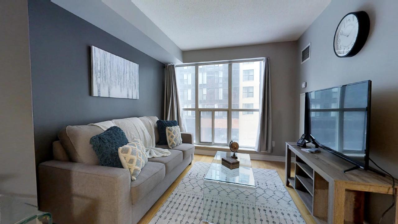 living room near wellington street toronto furnished apartment