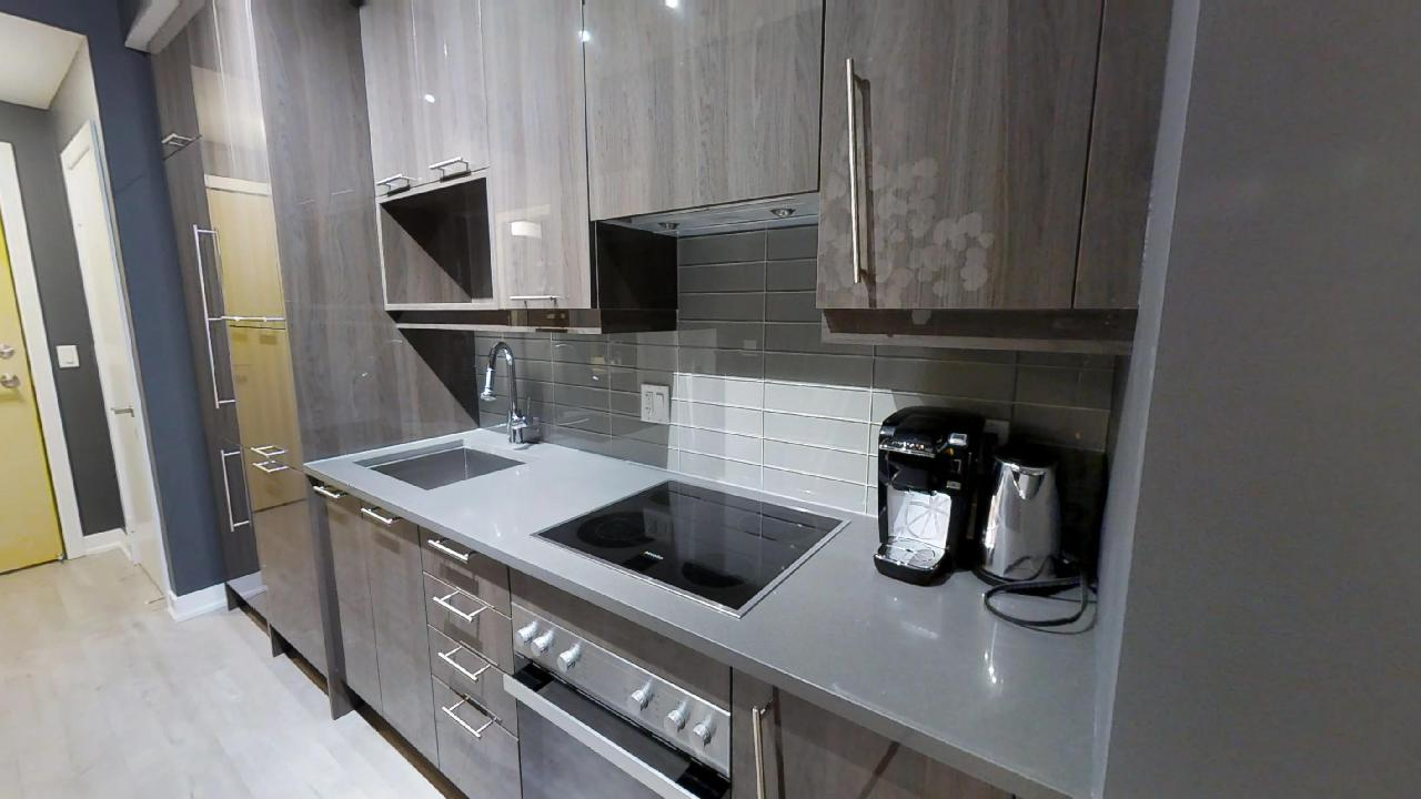 an example of a modern kitchen at toronto's financial district